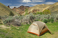 Campsite in Leslie Gulch in the Owyhee Uplands of SE Oregon