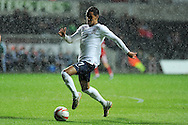 England's Tom Ince in action. UEFA 2015 European U21 championship, group one qualifier , Wales u21 v England u21 at the Liberty Stadium in Swansea, South Wales on Monday 19th May 2014. <br /> pic by Andrew Orchard, Andrew Orchard sports photography.