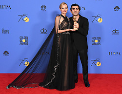 Aziz Ismail Ansar at the 75th Annual Golden Globe Awards held at the Beverly Hilton Hotel on January 7, 2018 in Beverly Hills, CA ©Tammie Arroyo-GG18/AFF-USA.com. 07 Jan 2018 Pictured: Diane Kruger. Photo credit: MEGA TheMegaAgency.com +1 888 505 6342