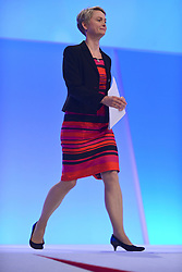 © Licensed to London News Pictures. 03/10/2012. Manchester, UK. Yvette Cooper, Shadow Home Secretary, walks onstage to deliver her speech on Day 4 at The Labour Party Conference at Manchester Central today 3rd october 2012. Photo credit : Stephen Simpson/LNP