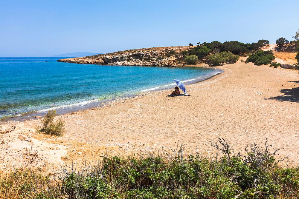 Paros, Greece - July 2021: