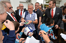 French national football team's coach Didier Deschamps leaves the press conference at the Aguilera stadium in Biarritz, France as the team preparation for the Euro 2016 European football starts, on May 18, 2016. Photo by Pascal Rondeau/ABACAPRESS.COM