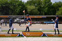 Podium Young Riders, Luiten Marten, Rockx Thalia, Dees Milou, NED<br /> Nederlands Kampioenschap<br /> Ermelo 2021<br /> © Hippo Foto - Dirk Caremans<br />  06/06/2021