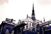 The exterior of Sainte-Chapelle chapel, Paris, France
