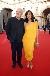 DAVID GILMOUR and his wife POLLY SAMPSON at the Royal Academy of Art Summer Exhibition Preview Party on 4th June 2008.<br /><br />NON EXCLUSIVE - WORLD RIGHTS
