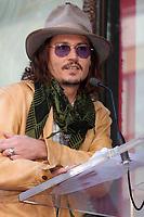 4/1/2011 Johnny Depp speaks at Penelope Cruz's Hollywood Walk of Fame ceremony