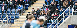 Fans in the South Stand.<br /> Falkirk 2 v 0 Dundee, Scottish Championship game at The Falkirk Stadium.<br /> © Michael Schofield.