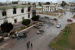 © under license to London News Pictures. 24/02/2011. The destroyed Army Compound in Benghazi, Libya.  Photo credit should read Michael Graae/London News Pictures