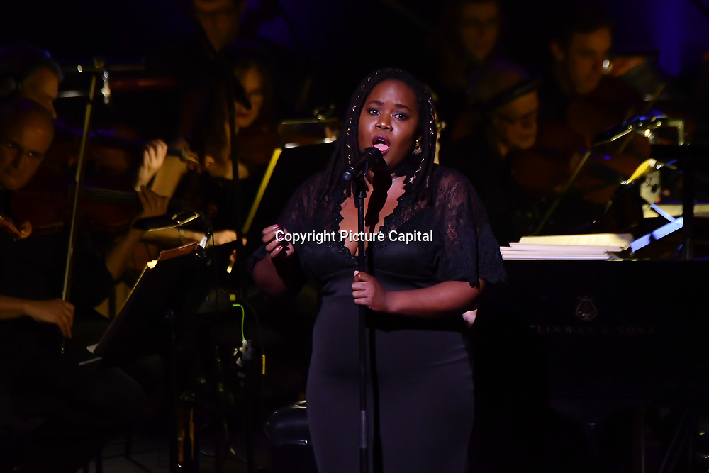 Deva Mahal is a soul and R&B singer preforms at Jazz Voice - Festival opening gala at Royal Festival Hall on 16 Nov 2018, London, UK.