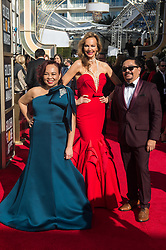 Margaret Gardiner (C) and guests attends the 76th Annual Golden Globe Awards at the Beverly Hilton in Beverly Hills, CA on Sunday, January 6, 2019.