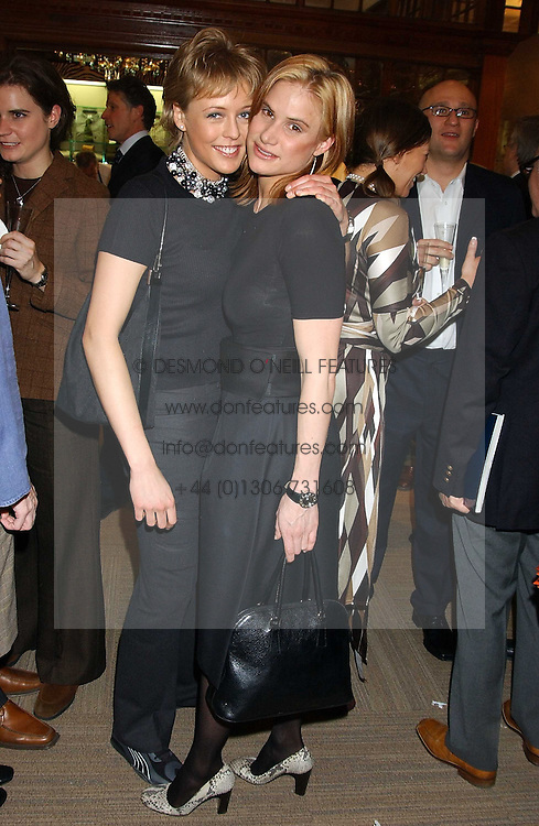 Left to right, LADY ALEXANDRA SPENCER-CHURCHILL and KATHERINE CULLEN at a party hosted by the Gussalli Beretta family to celebrate the opening of the new Beretta store, 36 St.James's Street, London SW1 on 10th January 2006.<br />