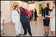 JULIAN SCHNABEL; ADE; CLAIRE CAUDWELL, Frank Cohen and Nicolai Frahm host Julian Schnabel's 'Every Angel has a Dark Side,' private view and party. IN AID OF CHICKENSHED. Dairy Art Centre, 7a Wakefield Street, London. 24 APRIL 2014