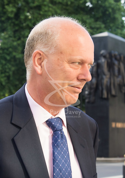 Cabinet Office, London, June 4th 2017. Transport Secretary Chris Grayling arrives at the Cabinet Office in Whitehall for the emergency COBRA Committee meeting following the London Bridge and Borough Markets terrorist incident which claimed the lives of six members of the public and injured over twenty more.