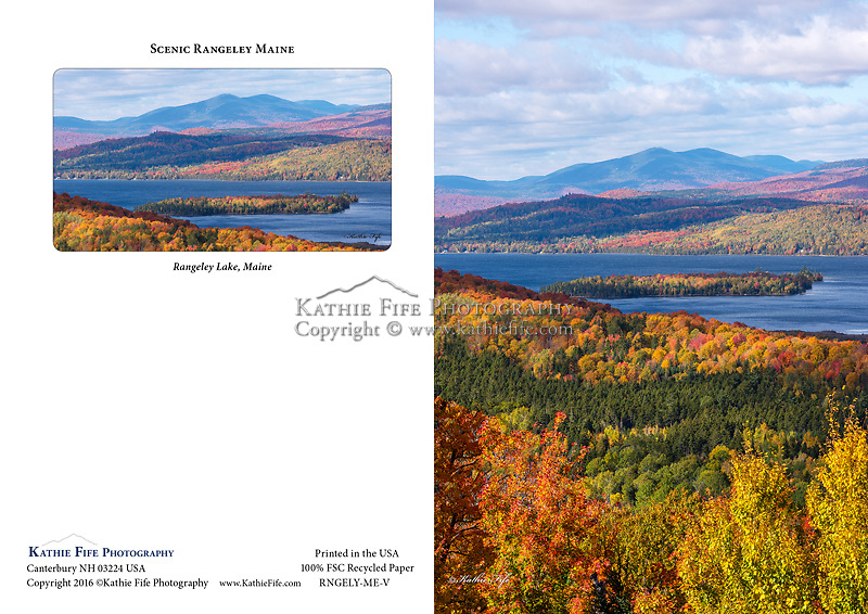 Rangeley Lake Maine Scenic View Greeting Card. 5x7 100% Recycled Paper