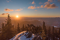 It wasn't a bad sunrise at Squaw Mountain right before I hiked back to my car.
