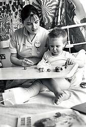 Children's ward, Queen's Medical Centre, Nottingham, UK 1981