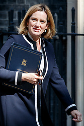 © Licensed to London News Pictures. 04/07/2017. London, UK. Home Secretary AMBER RUDD attends a cabinet meeting in Downing Street, London on Tuesday, 4 July 2017.Photo credit: Tolga Akmen/LNP