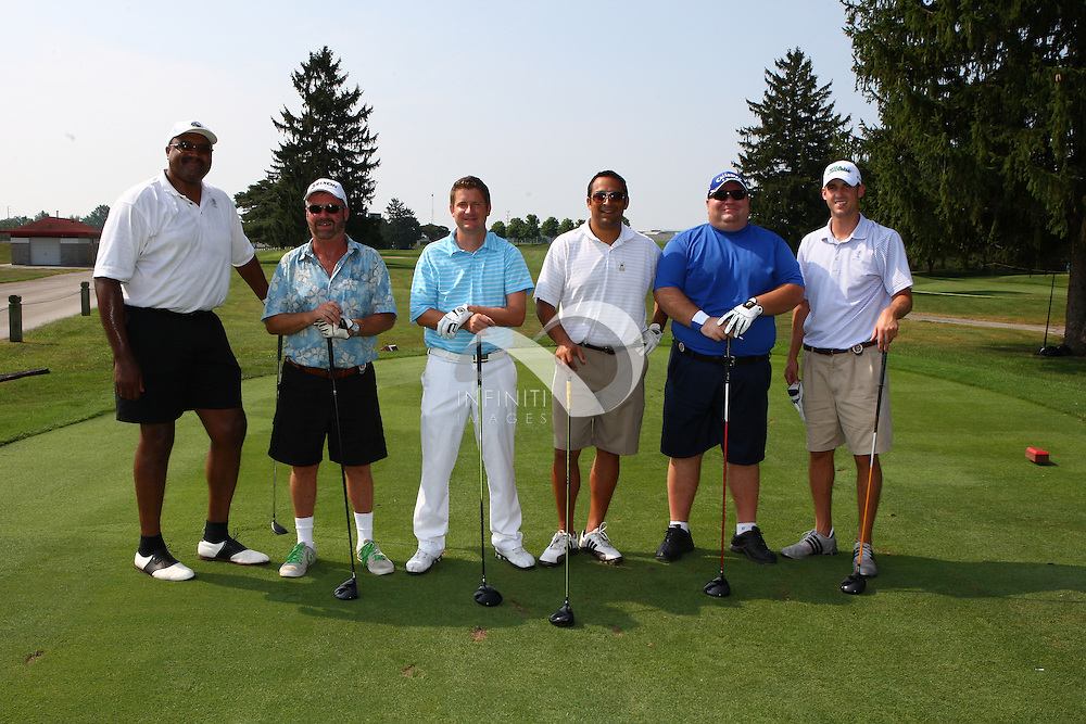 Groups participating in the Magnolia Health Wolf Challenge presented by Fuzzy's Vodka Pro Am Shamble at Brickyard Crossing Golf Course in Indianapolis, Indiana. .Corporate Event photography by Khris Hale, Infiniti Images