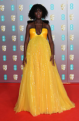Jodie Turner Smith attending the 73rd British Academy Film Awards held at the Royal Albert Hall, London. Photo credit should read: Doug Peters/EMPICS Entertainment