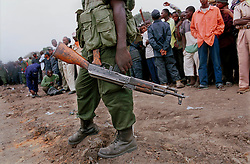 DEMOCRATIC REPUBLIC OF CONGO - A soldier stands guard in Kinshasa during independence day celebrations. (Photo © Jock Fistick)