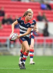 Lucy Attwood of Bristol Ladies passes the ball - Mandatory by-line: Paul Knight/JMP - 07/10/2017 - RUGBY - Ashton Gate Stadium - Bristol, England - Bristol Ladies v Gloucester-Hartpury Women - Tyrrells Premier 15s