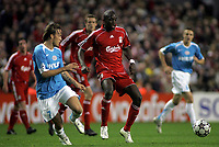 Photo: Paul Thomas.<br /> Liverpool v PSV Eindhoven. UEFA Champions League. Quarter Final, 2nd Leg. 11/04/2007.<br /> <br /> Momo Sissoko of Liverpool controls the midfield.