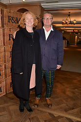 FERGUS & MARGOT HENDERSON at a party to celebrate the publication of 'Let's Eat meat' by Tom Parker Bowles held at Fortnum & Mason, Piccadilly, London on 21st October 2014.