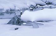 Creek in winter<br /> <br /> Yoho National Park<br /> British Columbia<br /> Canada
