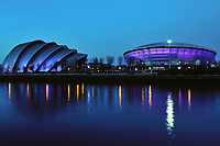 The SECC and Hydro arena are are lit up to celebrate the MTV awards at the Hydro