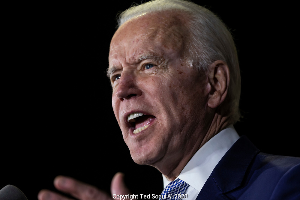 Democratic presidential candidate Joe Biden holds a campaign rally in Los Angeles.<br /> He was accompanied on stage with his sister Valerie Biden Owens and his wife Jill Biden.<br /> 3/3/2020 Los Angeles, CA USA<br /> (Photo by Ted Soqui)