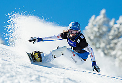 Julia Dujmovits of Austria competes during Qualification Run of Ladies' Parallel Giant Slalom at FIS Snowboard World Cup Rogla 2015, on January 31, 2015 in Course Jasa, Rogla, Slovenia. Photo by Vid Ponikvar / Sportida