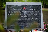 09.05.2014 Bialystok Cmentarz zolnierzy Armii radzieckiej w Dniu Zwyciestwa fot Michal Kosc / AGENCJA WSCHOD