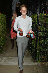 GEORGE FROST attending Annabel Goldsmith's Summer party held at her home in Ham, Surrey on 10th July 2014.