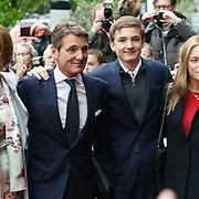 NLD/Zeist/20190430 - Inloop verjaardag Pieter Van Vollenhoven, Maurits en partner Marilene van den Broek en kinderen Anna, Lucas, Felicia
