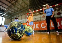 A handball ball at practice of Slovenian Handball Women National Team, on June 3, 2009, in Arena Kodeljevo, Ljubljana, Slovenia. (Photo by Vid Ponikvar / Sportida)