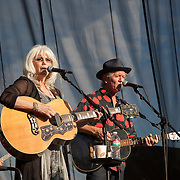 Emmylou Harris and Rodney Crowell play the St. Michelle Winery, Woodinville, WA on 6-22-2014.