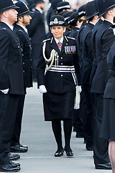 © Licensed to London News Pictures. 03/11/2017. London, UK. Commissioner CRESSIDA DICK attends the Metropolitan Police Service Passing Out Parade, to mark the graduation of 182 new recruits from the Met's Police Academy in Hendon. Photo credit: Ray Tang/LNP