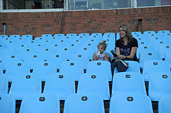 Pretoria. Currie Cup rugby. Loftus Versveld Stadium in Arcadia. 01-09-18 Blue Bulls vs Gauteng Lions. Anika de Beer and her aunt Talja Venter from Johannesburg in the stadium seats before the game got under way. <br /> Picture: Karen Sandison/African News Agency(ANA)