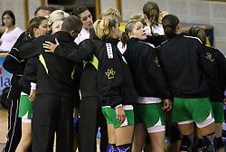 Players of Olimpija at  handball game between women team RK Olimpija vs ZRK Brezice at 1st round of National Championship, on September 13, 2008, in Arena Tivoli, Ljubljana, Slovenija. Olimpija won 41:17. (Photo by Vid Ponikvar / Sportal Images)