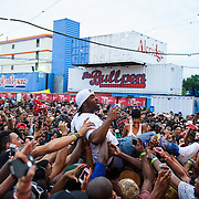 WASHINGTON, DC - August 17th, 2013 -  Rapper A$AP Ferg crowd surfs during his performance at the 2013 Trillectro Festival at the Half Street Fairgrounds in Washington, D.C.  (Photo by Kyle Gustafson / For The Washington Post)