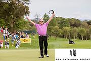 El jugador de golf Miguel Angel Jiménez gana el Open de España de Golf al PGA Catalunya Resort de Caldes de Malavella.