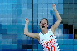02-06-2010 VOLLEYBAL: NEDERLANDS VROUWEN VOLLEYBAL TEAM: ALMERE<br /> Reportage Nederlands volleybalteam vrouwen / Janneke van Tienen<br /> ©2010-WWW.FOTOHOOGENDOORN.NL