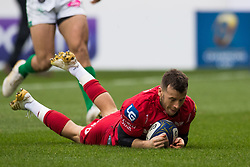 Scarlets' Gareth Davies scores his sides first try - Mandatory by-line: Craig Thomas/JMP - 09/12/2017 - RUGBY - Parc y Scarlets - Llanelli, Wales - Scarlets v Benetton Rugby - European Rugby Champions Cup