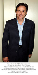 Actor BRIAN CAPRON at a reception in London on 11th March 2003.PHW 202