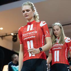 10-12-2019: Wielrennen: Teampresentatie Sunweb: Amsterdam: Pernille Mathiesen