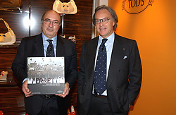 "Left to right, DANTE FERRETTI and DIEGO DELLA VALLE President of Tod's at a book signing hosted by Tod's for Dante Ferretti's new book 'The Art of Production Design"" held at the Tod's store, 2/3 Old Bond Street, London on 19th April 2005.<br />