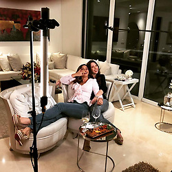 """Sofia Vergara releases a photo on Instagram with the following caption: """"Mis amigas lindas en Barrarranquilla hablando mal de mi!!! \ud83c\udfac\ud83d\ude0d\ud83d\ude0d\ud83d\ude0d I  love uuu #partidadelocas\ud83c\udf7e\ud83c\udf79\ud83c\udf78#hastadesdeacalashagopasarbueno\ud83d\ude02\ud83d\ude02\ud83d\ude02"""". Photo Credit: Instagram *** No USA Distribution *** For Editorial Use Only *** Not to be Published in Books or Photo Books ***  Please note: Fees charged by the agency are for the agency's services only, and do not, nor are they intended to, convey to the user any ownership of Copyright or License in the material. The agency does not claim any ownership including but not limited to Copyright or License in the attached material. By publishing this material you expressly agree to indemnify and to hold the agency and its directors, shareholders and employees harmless from any loss, claims, damages, demands, expenses (including legal fees), or any causes of action or allegation against the agency arising out of or connected in any way with publication of the material."""