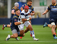Rugby Union - 2019 / 2020 Gallagher Premiership - Worcester Warriors vs Bristol Bears<br /> <br /> Bristol Bears' Siale Piutau is tackled by Worcester Warriors' Francois Venter, at Sixways.<br /> <br /> COLORSPORT/ASHLEY WESTERN