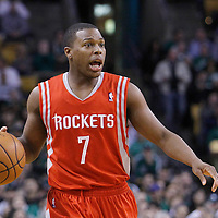 06 March 2012: Houston Rockets point guard Kyle Lowry (7) brings the ball upcourt during the Boston Celtics 97-92 (OT) victory over the Houston Rockets at the TD Garden, Boston, Massachusetts, USA.