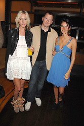 Left to right, the HON.SOPHIA HESKETH, The HON.NAT ROTHSCHILD and MARINA HANBURY at a party to celebrate the launch of Cavalli Selection - the first ever wine from Casa Cavalli, held at 17 Berkeley Street, London W1 on 29th May 2008.<br /><br />NON EXCLUSIVE - WORLD RIGHTS
